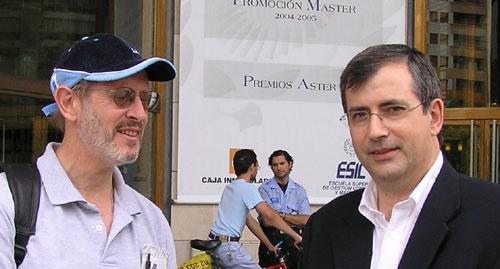 Allan Davidson: soundbytesradio.com y Fernando García Mongay: Congreso de Periodismo.com