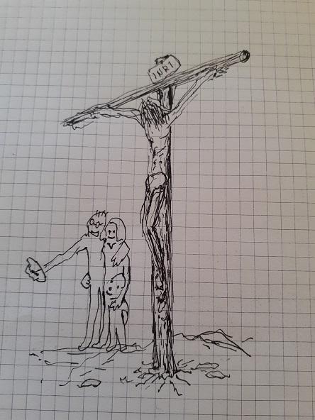 Crucificado con selfie pq