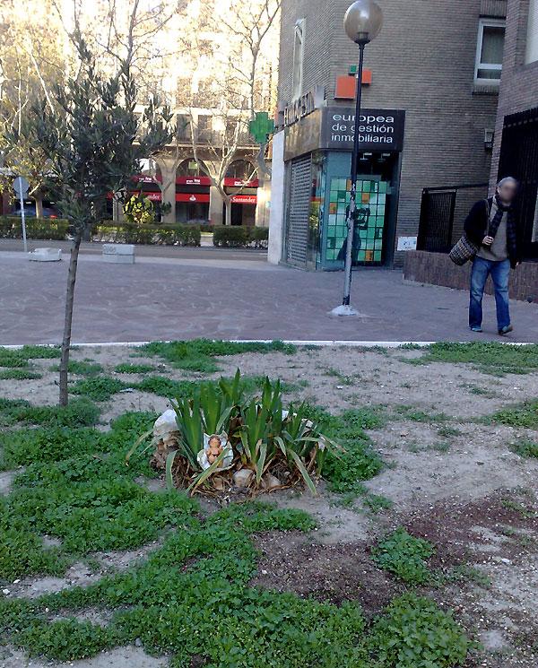 Nacimiento callejero en Zaragoza