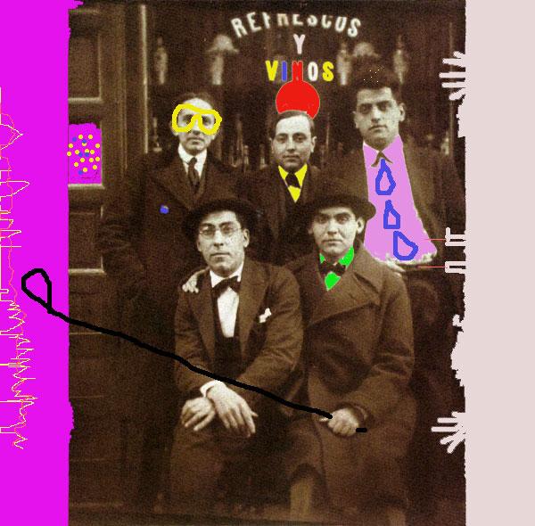 Benjamín Jarnés, Humberto Pérez de la Ossa, Luis Buñuel, Rafael Barradas y Federico García Lorca (1923)