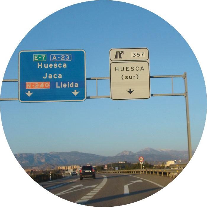 Entrada de Huesca desde Zaragoza