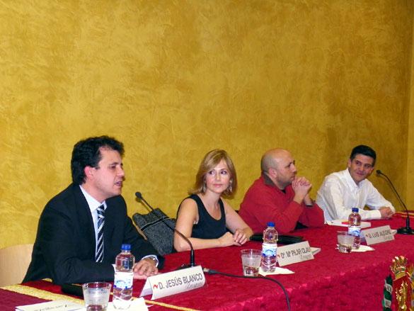 Jesús Blanco, María Pilar Clau, Luis Alegre y Mariano Gistaín
